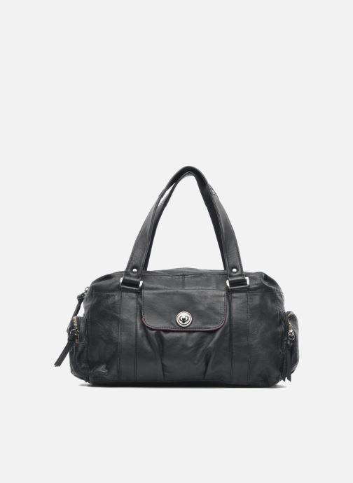 Bolsos de mano Pieces Totally Royal leather Small bag Negro vista de detalle / par