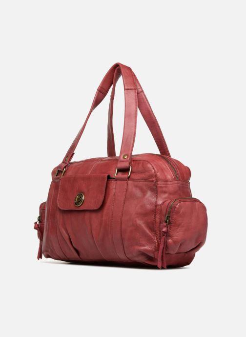 Borse Pieces Totally Royal leather Small bag Bordò modello indossato