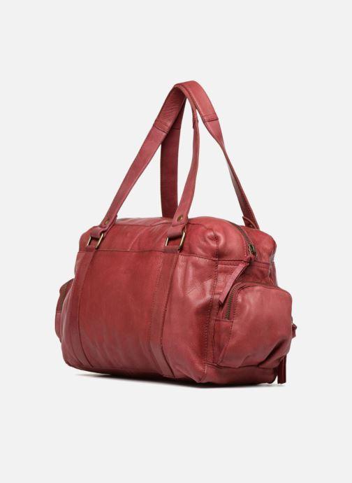 Borse Pieces Totally Royal leather Small bag Bordò immagine destra