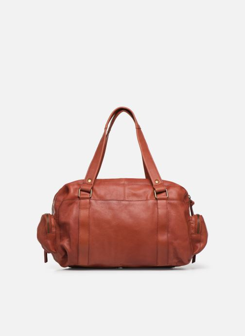 Sacs à main Pieces Totally Royal leather Small bag Rouge vue face