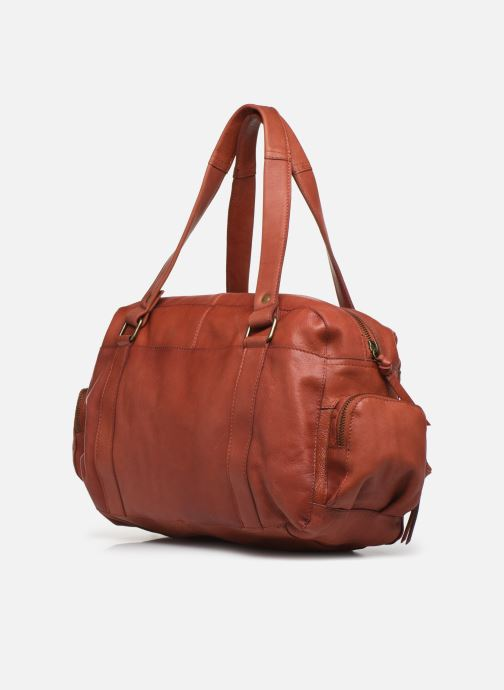 Sacs à main Pieces Totally Royal leather Small bag Rouge vue droite
