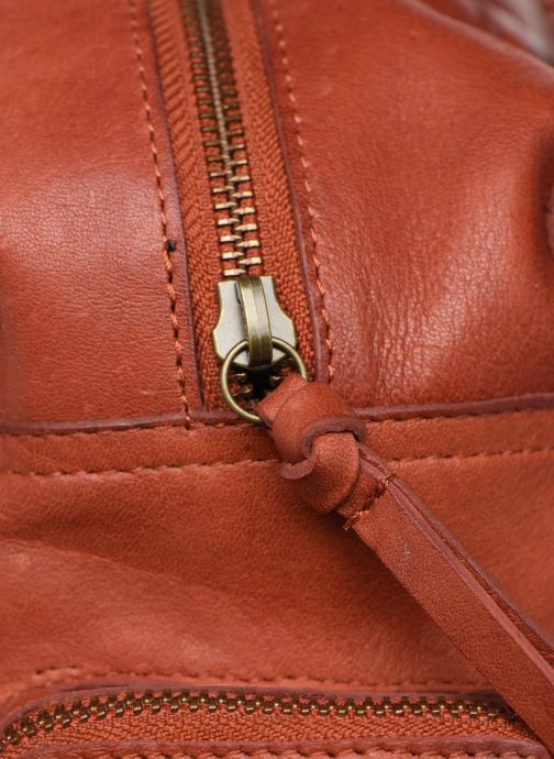 Handtaschen Pieces Totally Royal leather Small bag rot ansicht von links