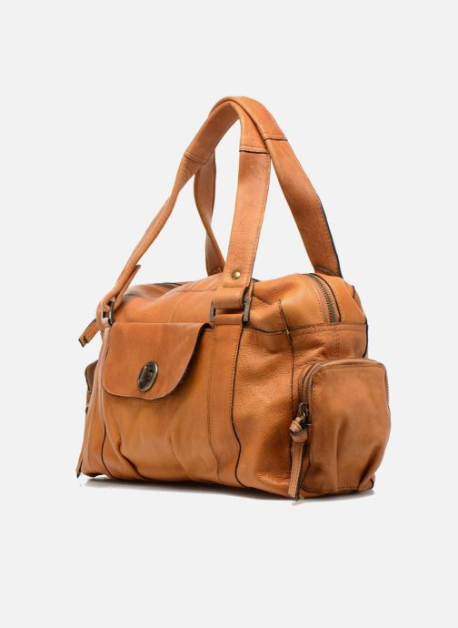 Handtassen Pieces Totally Royal leather Small bag Bruin model