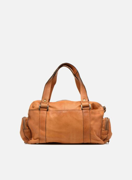 Handtassen Pieces Totally Royal leather Small bag Bruin voorkant