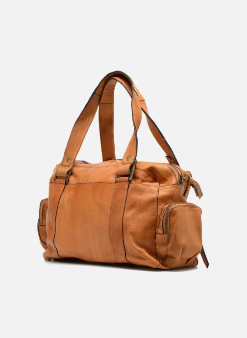 Sacs à main Pieces Totally Royal leather Small bag Marron vue droite