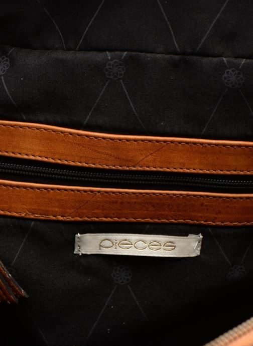 Handtassen Pieces Totally Royal leather Small bag Bruin achterkant