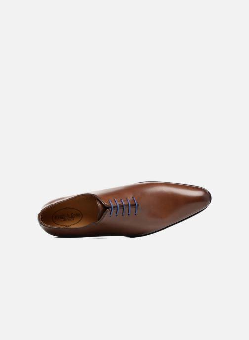 Chaussures à lacets Brett & Sons Côme Marron vue gauche