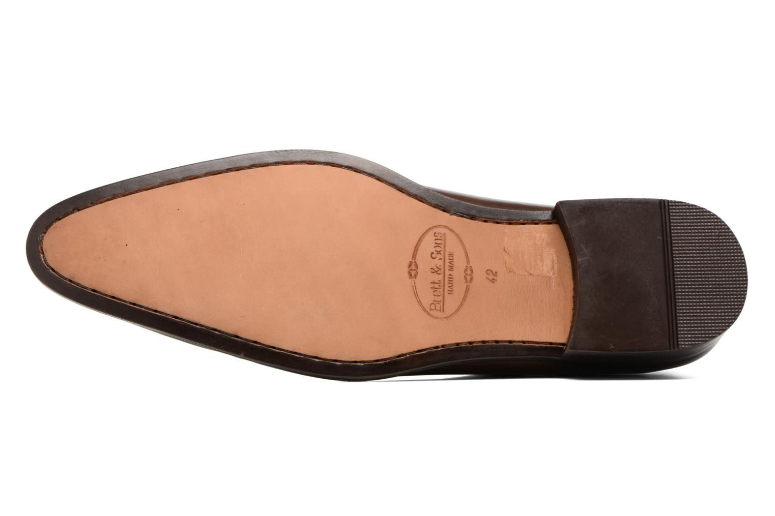 Lace-up shoes Brett & Sons Côme Brown view from above