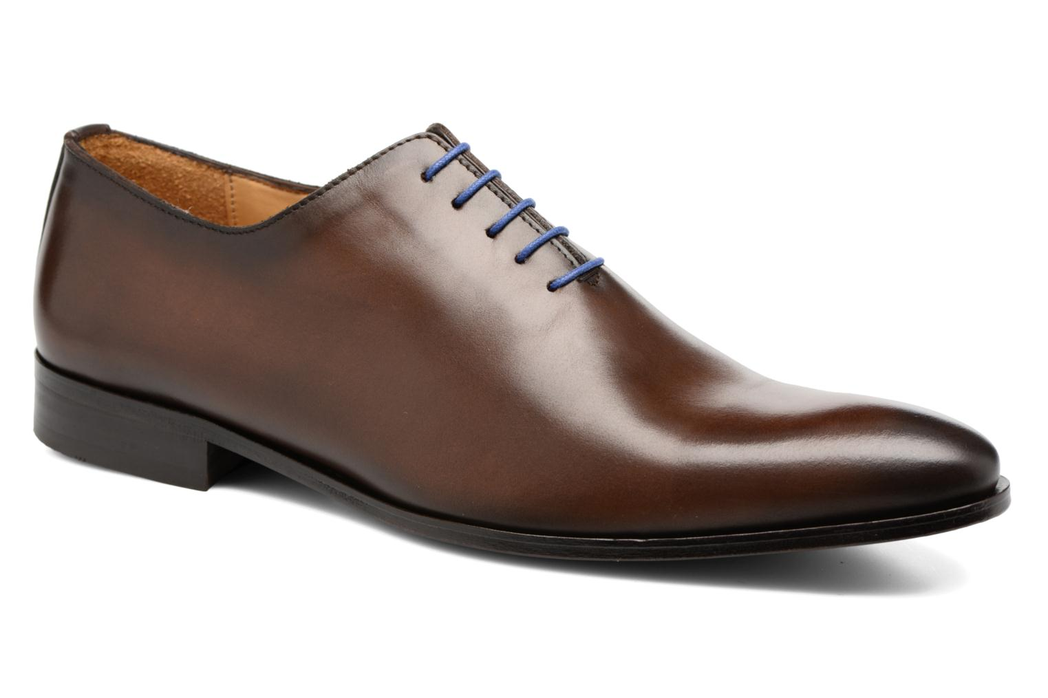 Lace-up shoes Brett & Sons Côme Brown detailed view/ Pair view