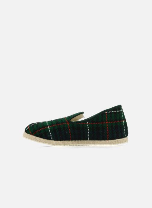 Slippers Rondinaud Caen Green front view
