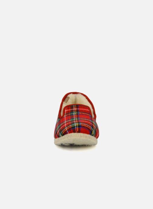 Chaussons Rondinaud Calais Rouge vue portées chaussures