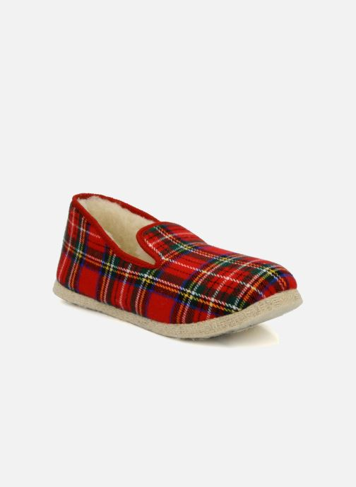 Slippers Rondinaud Calais Red detailed view/ Pair view