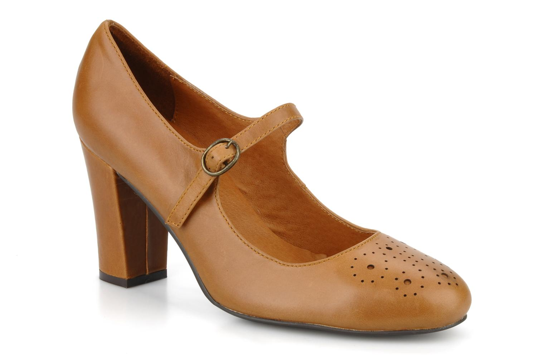 High heels Georgia Rose Yara Brown detailed view/ Pair view