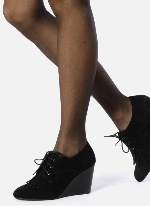 Zapatos con cordones Georgia Rose Azalea Negro vista de abajo