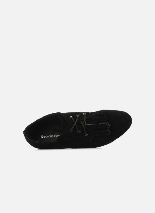 Zapatos con cordones Georgia Rose Azalea Negro vista lateral izquierda