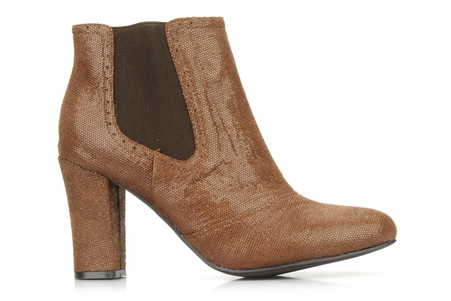 Ankle boots Georgia Rose Oliva Brown back view