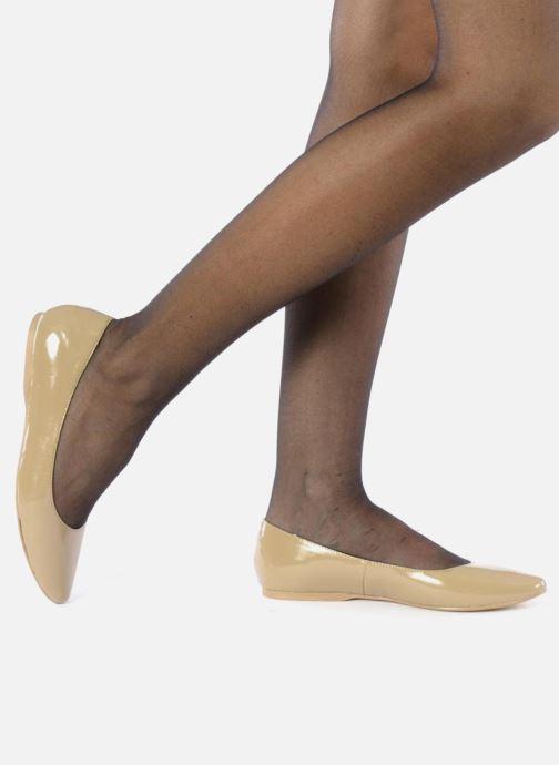 Ballerines I Love Shoes Mizaella Beige vue bas / vue portée sac