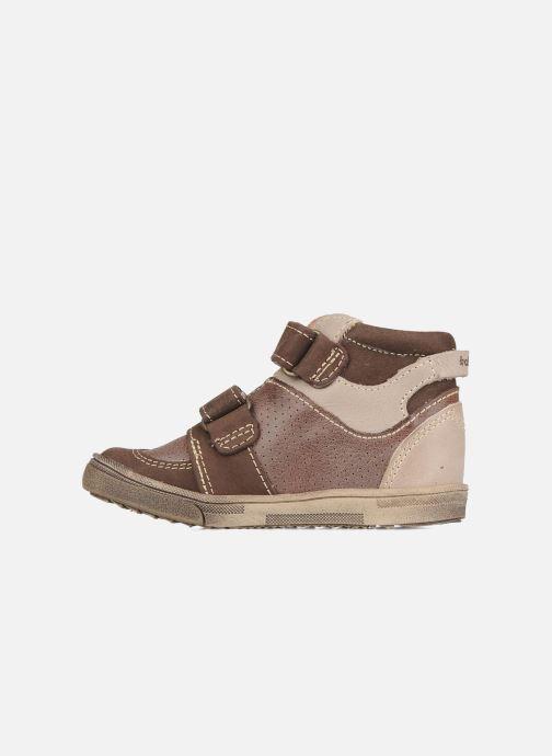 Zapatos con velcro Babybotte Ari Marrón vista de frente