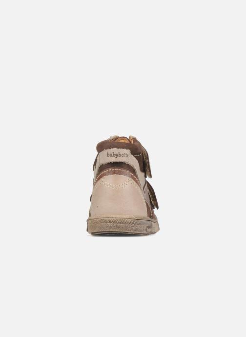 Zapatos con velcro Babybotte Ari Marrón vista lateral derecha