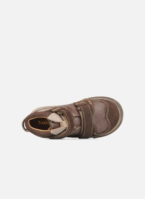 Velcro shoes Babybotte Ari Brown view from the left