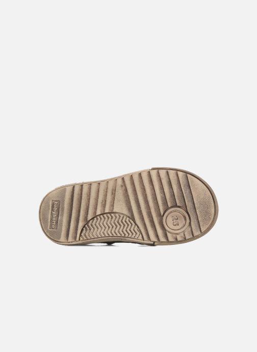 Zapatos con velcro Babybotte Ari Marrón vista de arriba