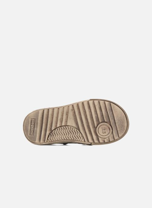 Velcro shoes Babybotte Ari Brown view from above