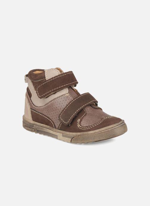 Zapatos con velcro Babybotte Ari Marrón vista de detalle / par