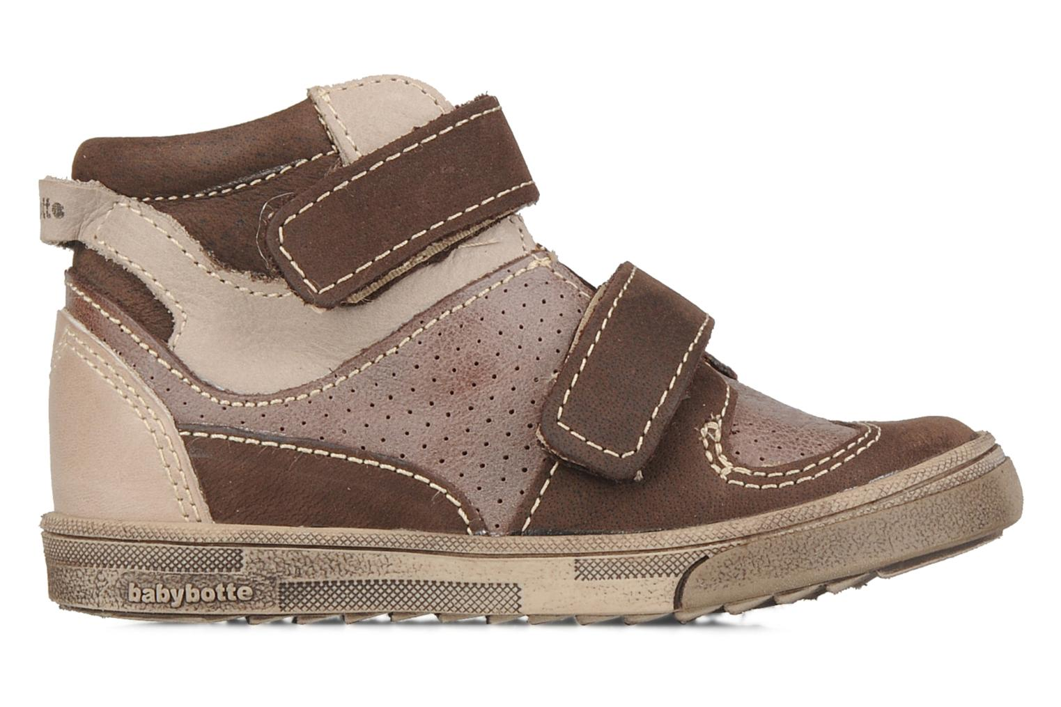Velcro shoes Babybotte Ari Brown back view
