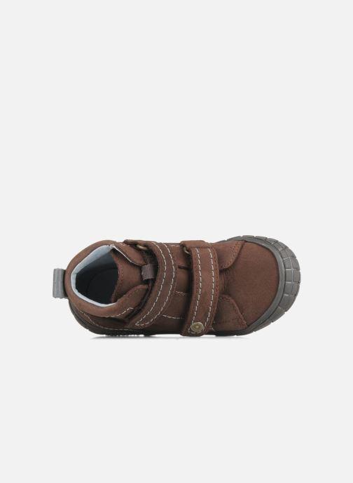 Chaussures à scratch Babybotte Axyon Marron vue gauche