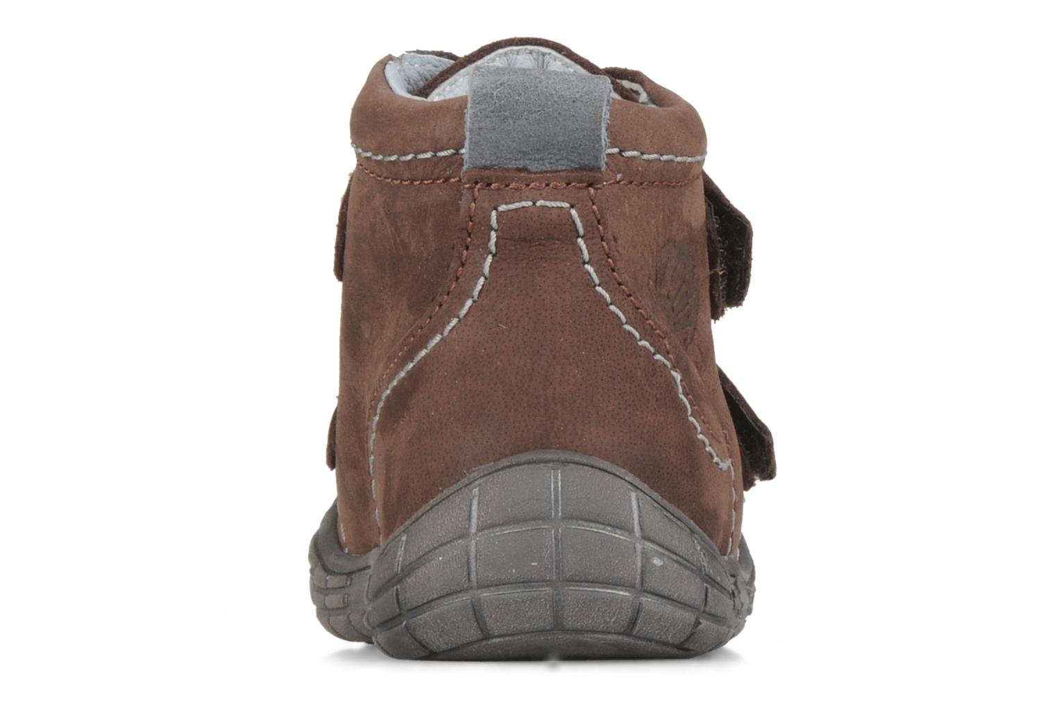 Velcro shoes Babybotte Axyon Brown view from the right