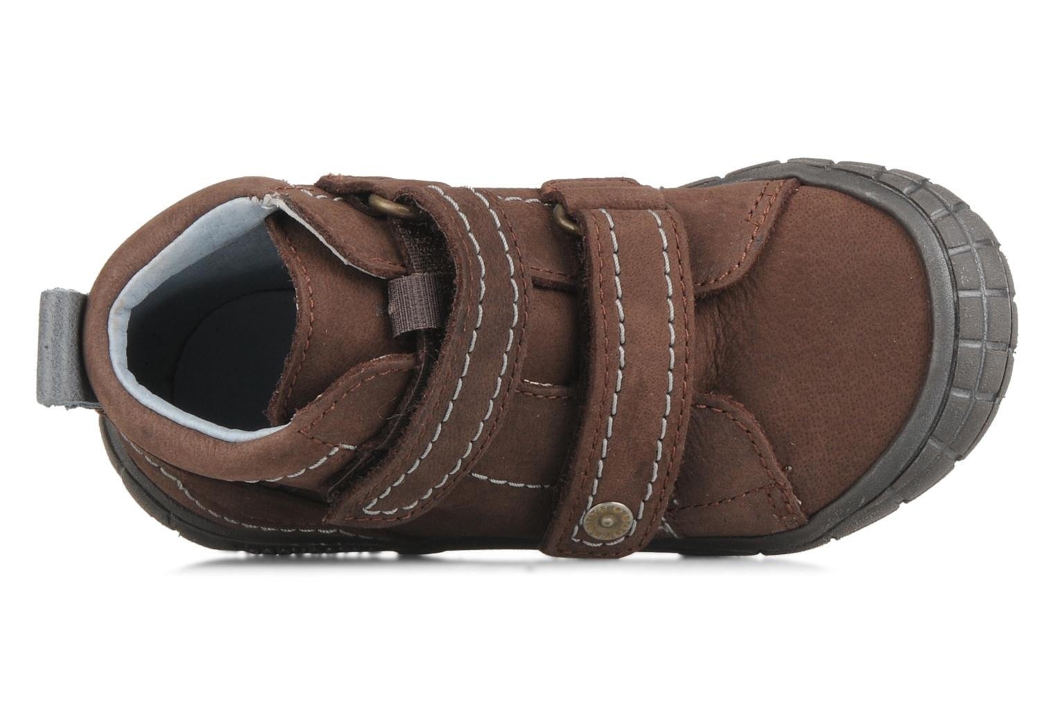 Velcro shoes Babybotte Axyon Brown view from the left