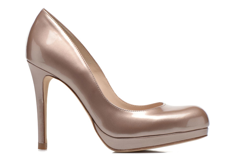 High heels L.K. Bennett Sledge Bronze and Gold back view