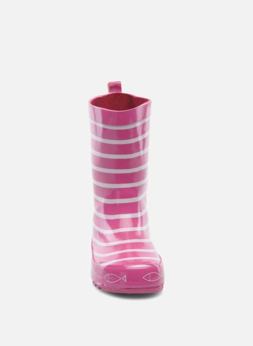 Bottes Be Only Timouss Rose vue portées chaussures