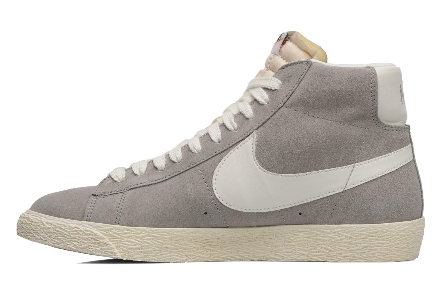 Trainers Nike Blazer mid prm Grey front view