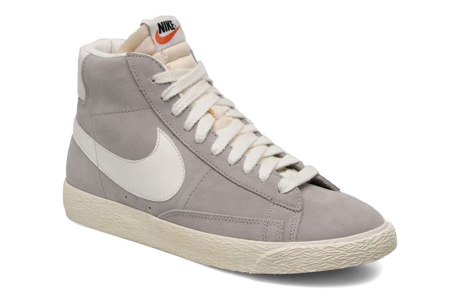 Trainers Nike Blazer mid prm Grey detailed view/ Pair view