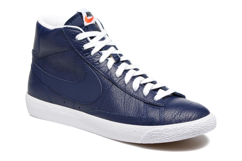 Baskets Nike Blazer mid prm Bleu vue détail/paire