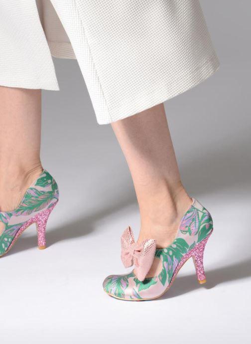 High heels Irregular choice Windsor Green view from underneath / model view