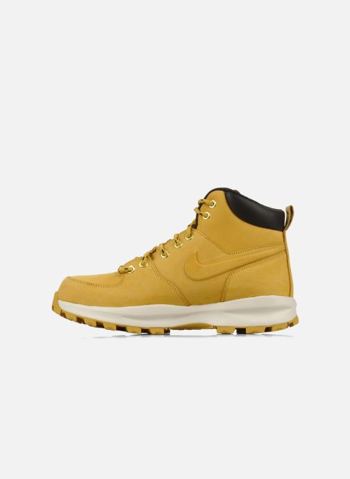 Ankle boots Nike Manoa leather Yellow front view