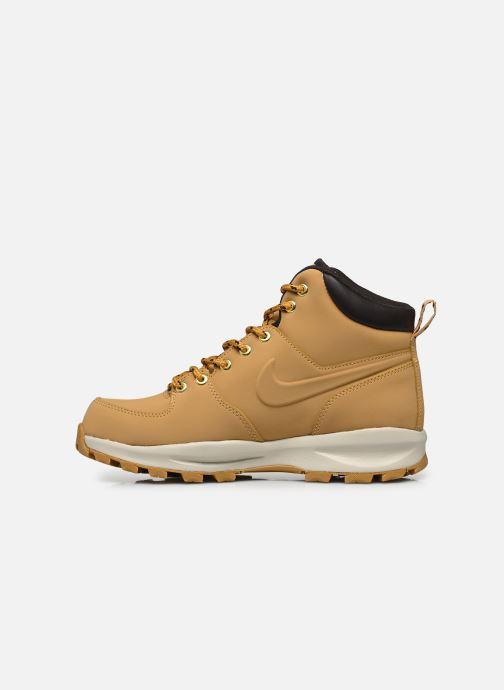 Boots en enkellaarsjes Nike Manoa leather Geel voorkant
