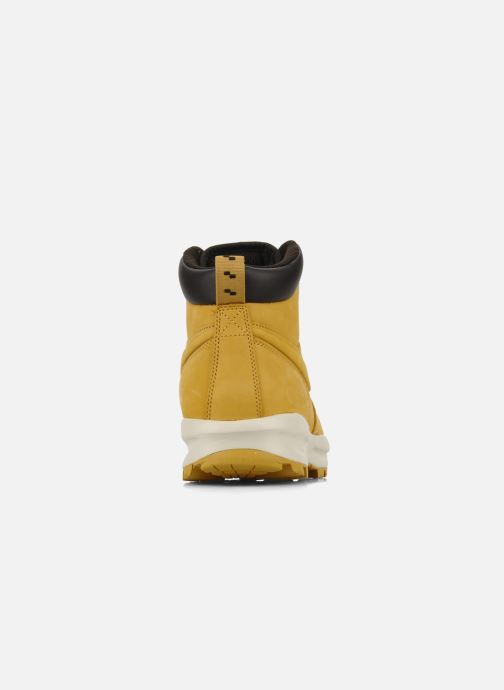 Ankle boots Nike Manoa leather Yellow view from the right
