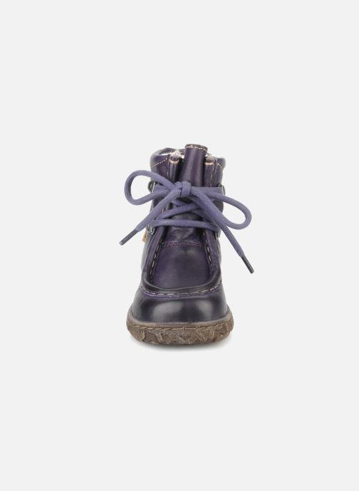 Stiefeletten & Boots Bisgaard Loona lila schuhe getragen