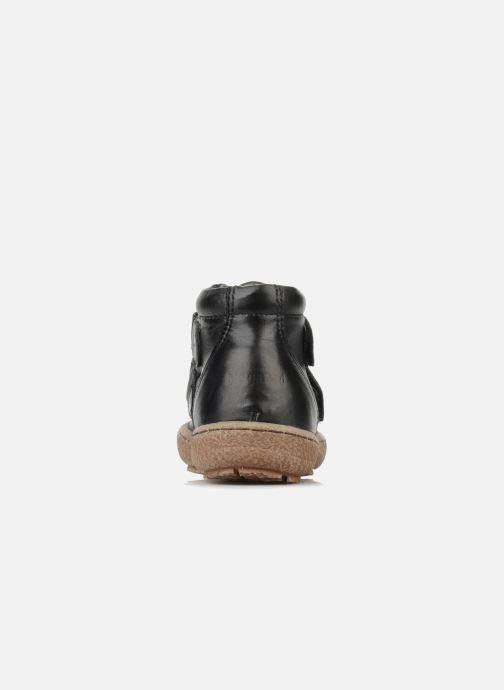 Zapatos con velcro Bisgaard Gapaos Negro vista lateral derecha