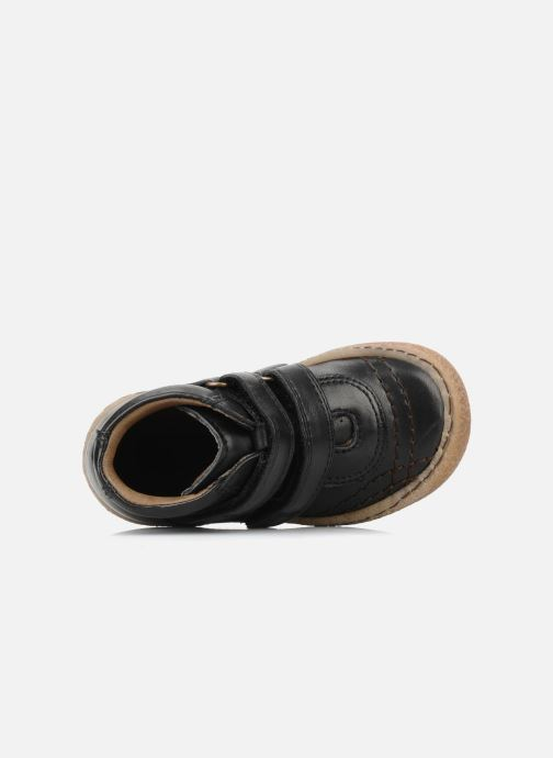 Velcro shoes Bisgaard Gapaos Black view from the left