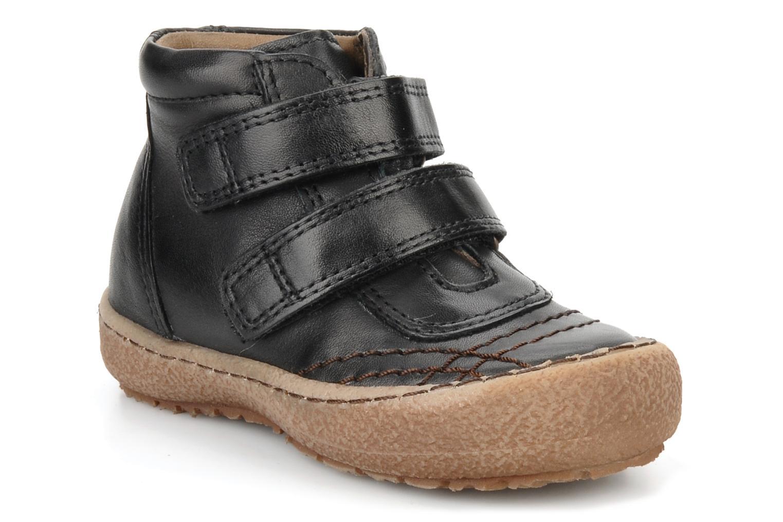 d20b390a31d Sko med velcro Bisgaard Gapaos Sort detaljeret billede af skoene
