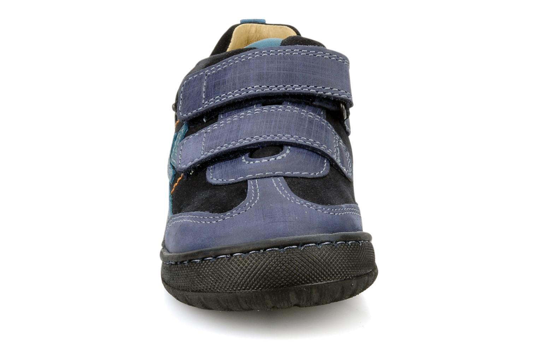 Chaussures à scratch Start Rite Trail Bleu vue portées chaussures
