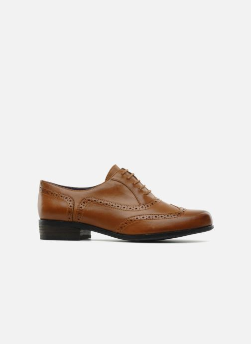 Lace-up shoes Clarks Hamble oak Brown back view