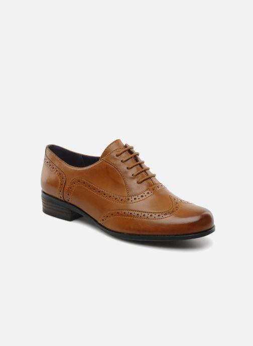 Lace-up shoes Clarks Hamble oak Brown detailed view/ Pair view