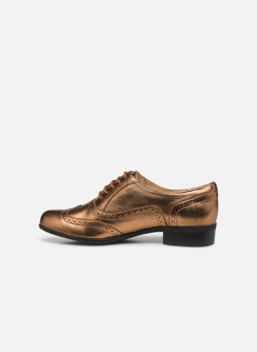 Chaussures à lacets Clarks Hamble Oak Or et bronze vue face
