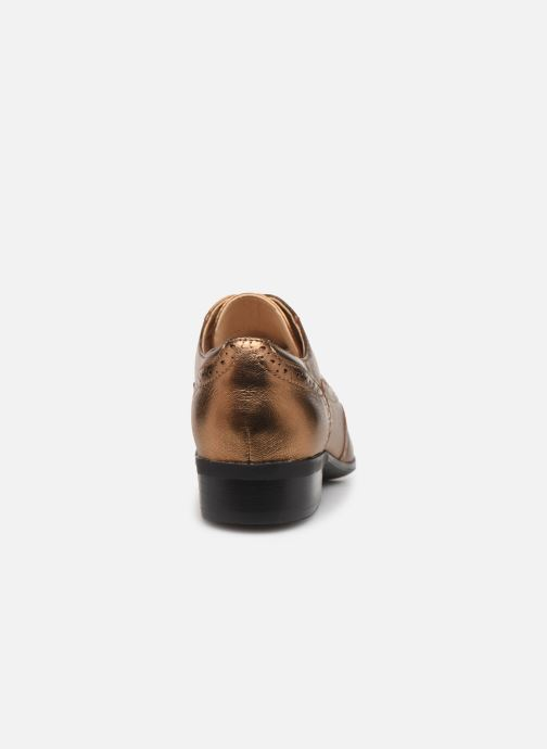 Chaussures à lacets Clarks Hamble Oak Or et bronze vue droite