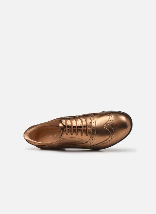 Chaussures à lacets Clarks Hamble Oak Or et bronze vue gauche